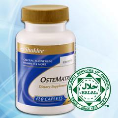 Di dalam Ostematrix Shaklee, turut mengandung Kalsium, Magnesium & Vitamin D.