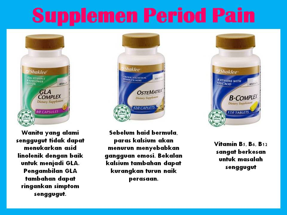 vitamin legakan period pain